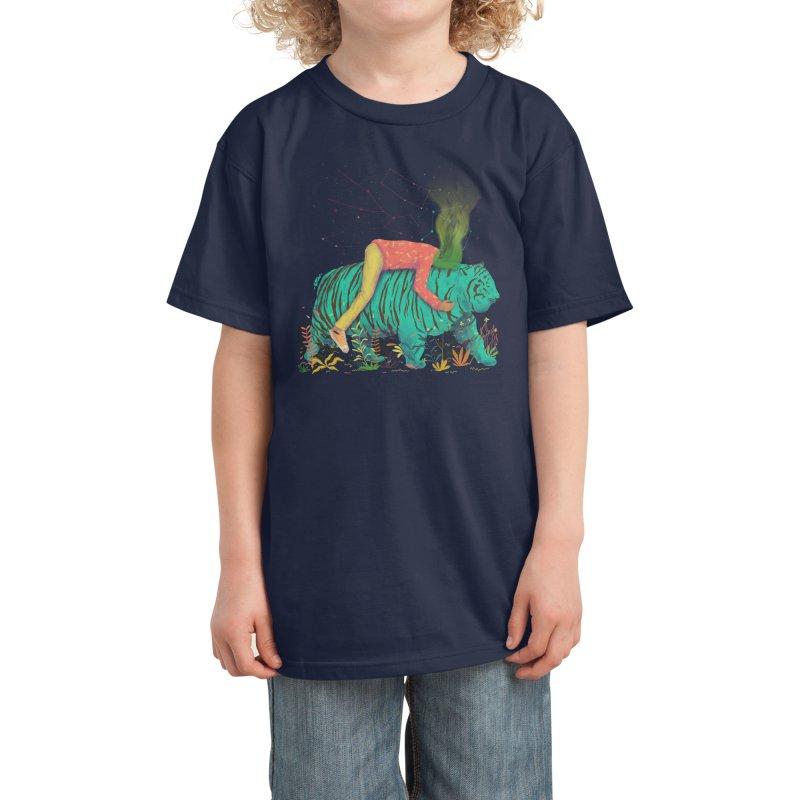 comfort with friend Kids T-Shirt by Threadless Artist Shop