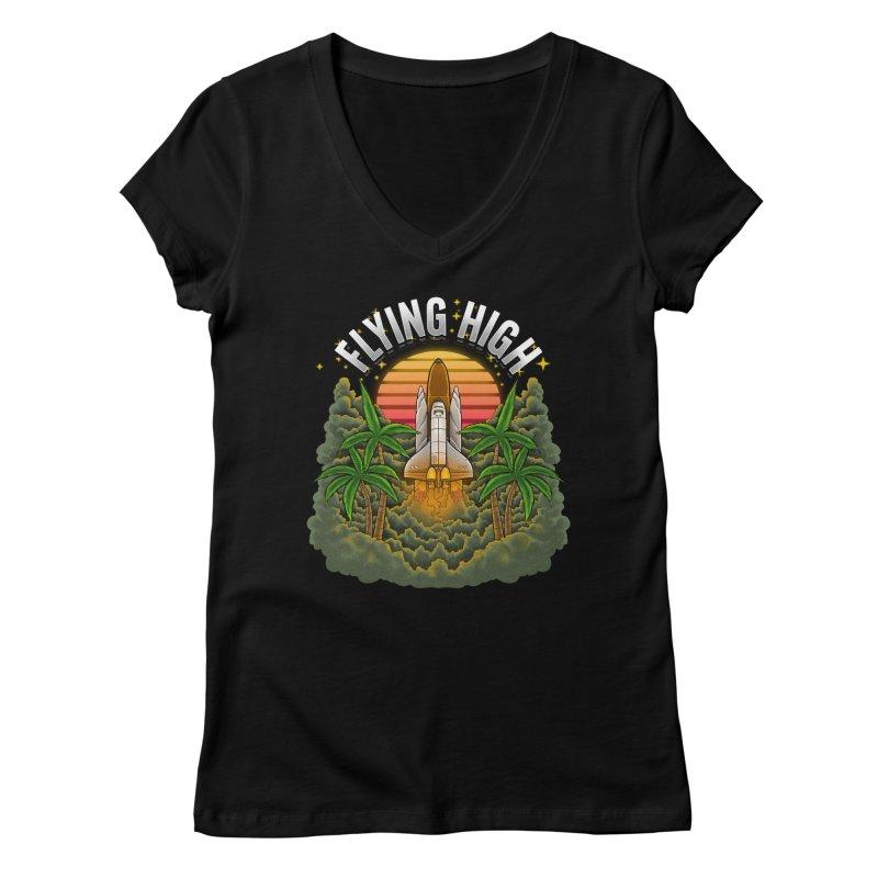 Flying High Women's V-Neck by Threadless Artist Shop