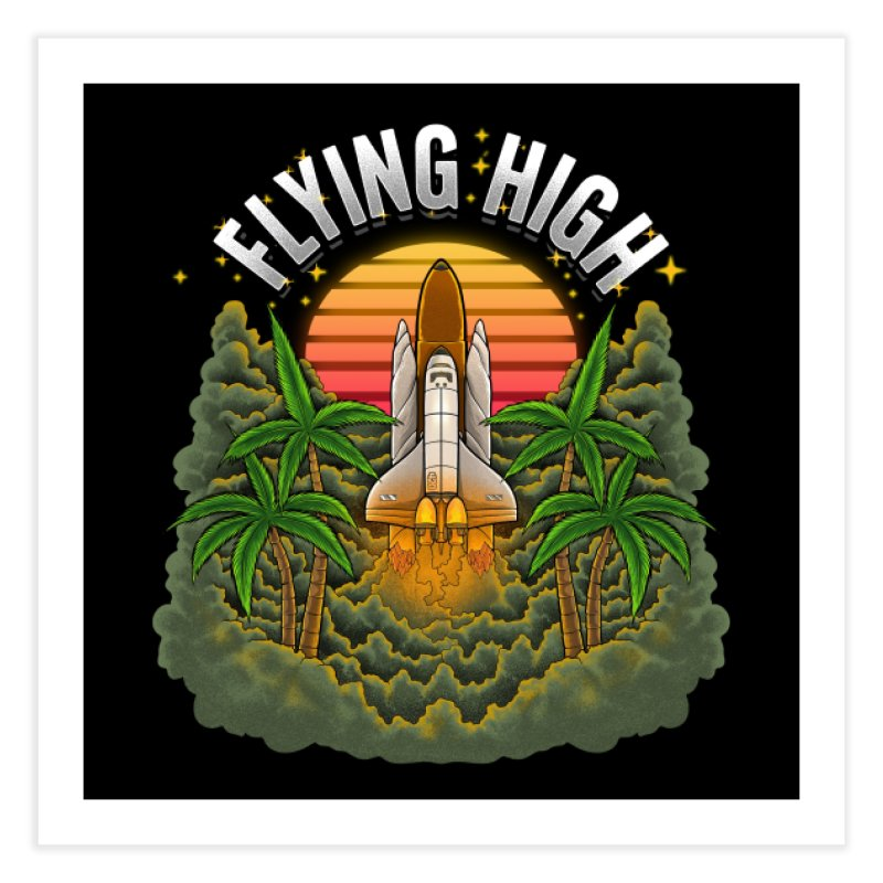 Flying High Home Fine Art Print by Threadless Artist Shop