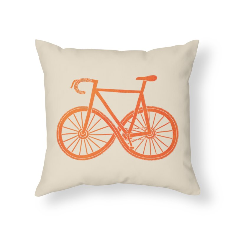 Cycle Forever: DTG Home Throw Pillow by Threadless Artist Shop