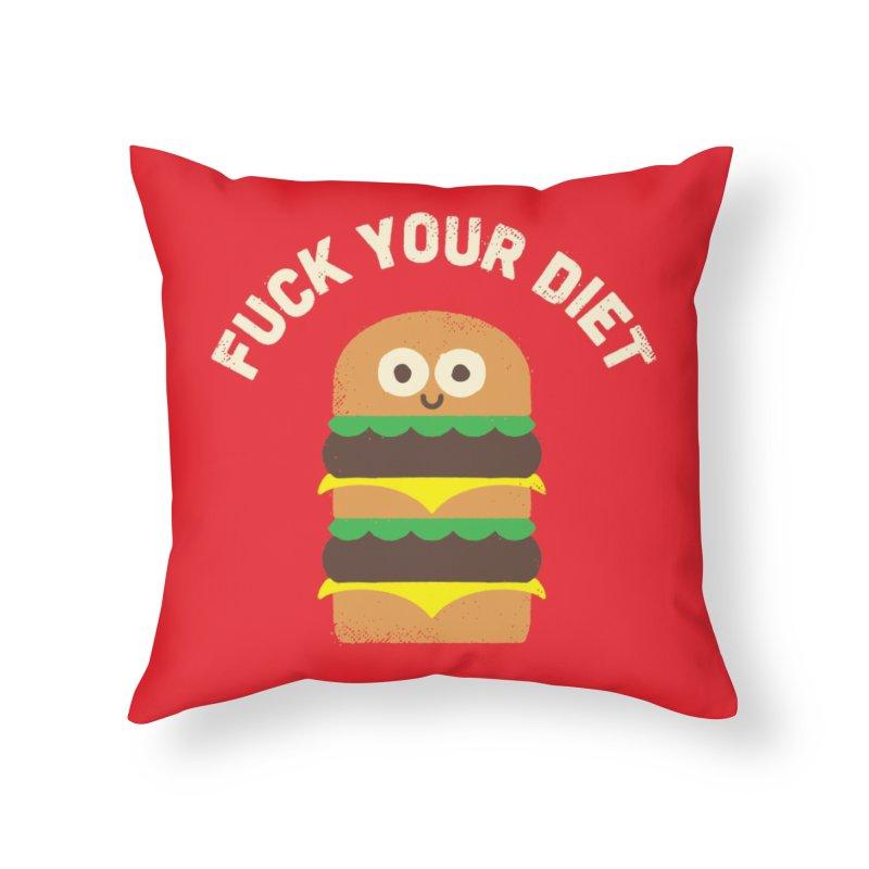 Discounting Calories Home Throw Pillow by Threadless Artist Shop