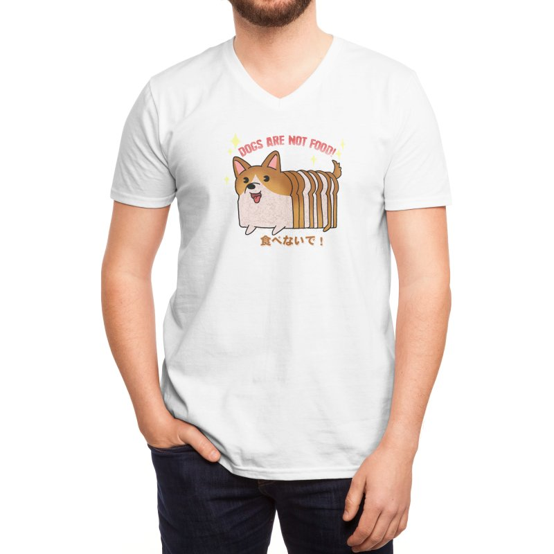 Dogs are not food! Men's V-Neck by Threadless Artist Shop