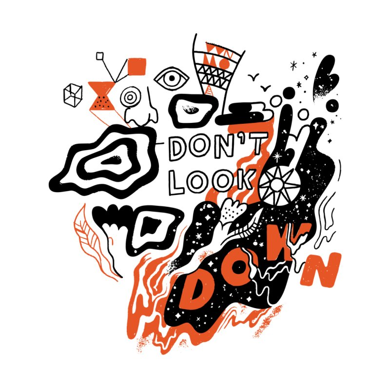 Don't Look Down Men's T-Shirt by Threadless Artist Shop