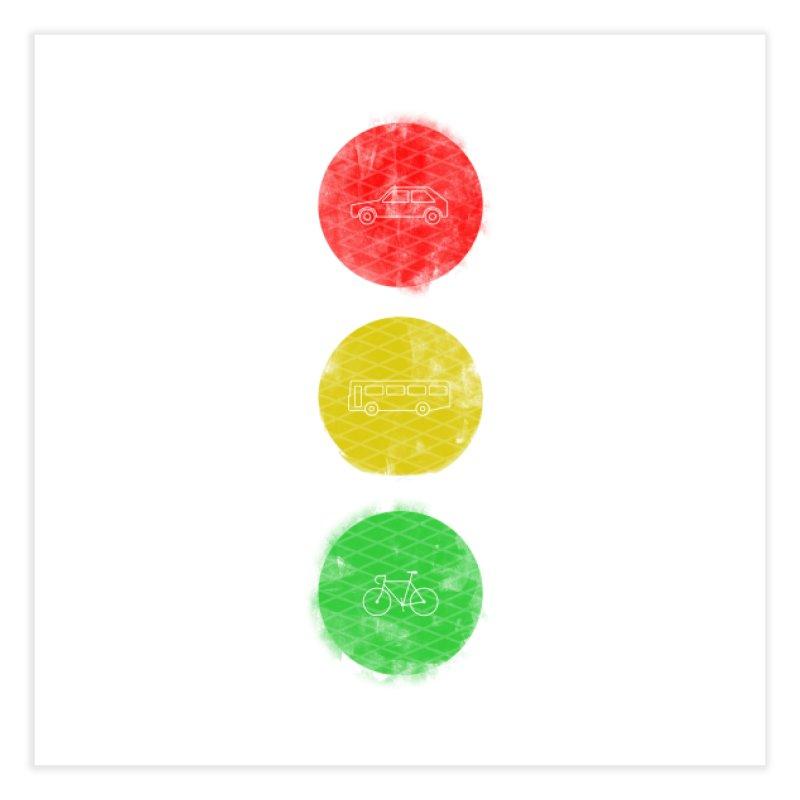 Green Means Go: DTG Home Fine Art Print by Threadless Artist Shop