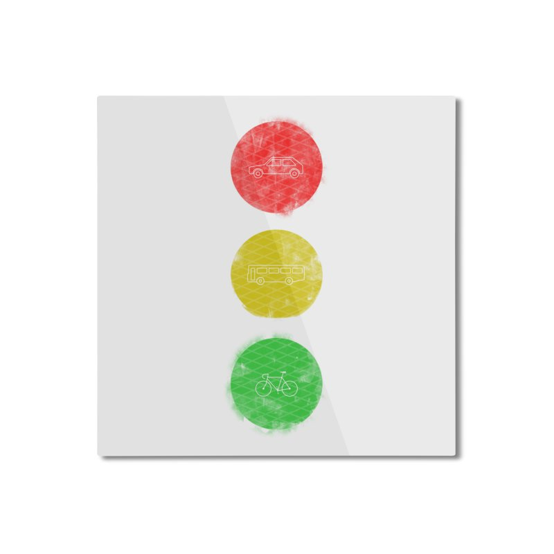 Green Means Go: DTG Home Mounted Aluminum Print by Threadless Artist Shop
