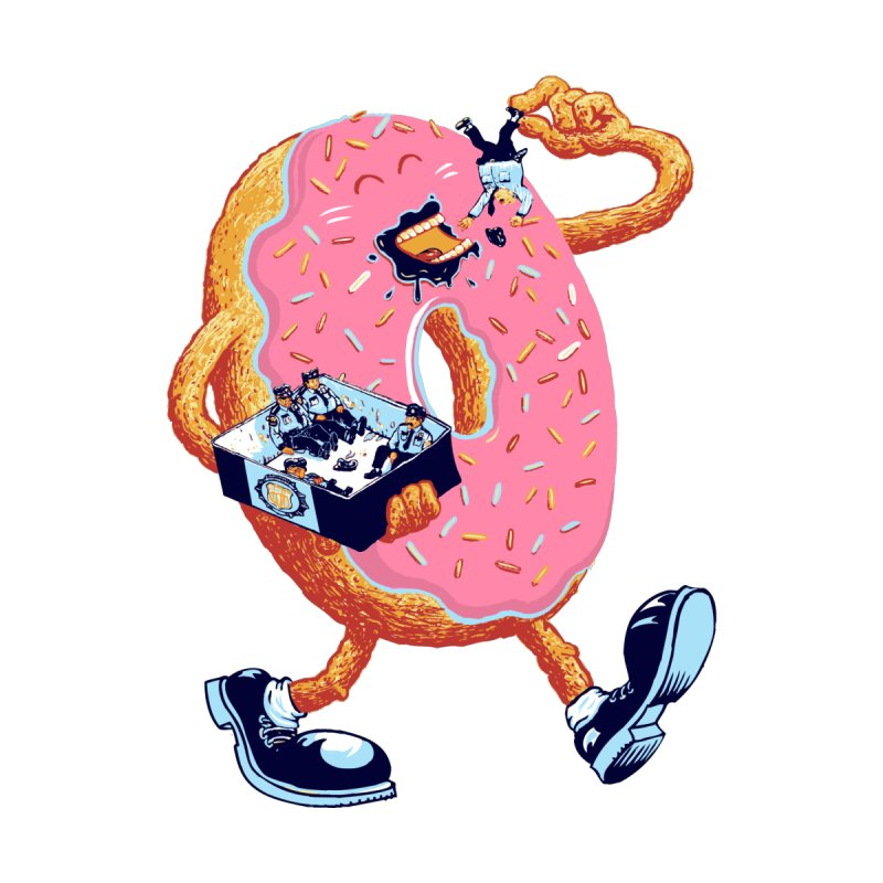 Donuts Love Policemen Women's T-Shirt by Threadless Artist Shop