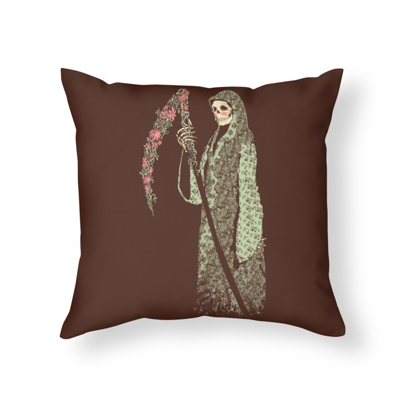 Grim Poetry Home Throw Pillow by Threadless Artist Shop
