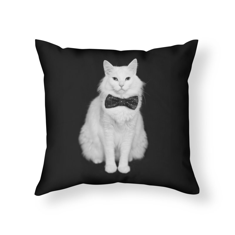 Dr. Evil + Bow Tie = Prof. Evil Home Throw Pillow by Threadless Artist Shop