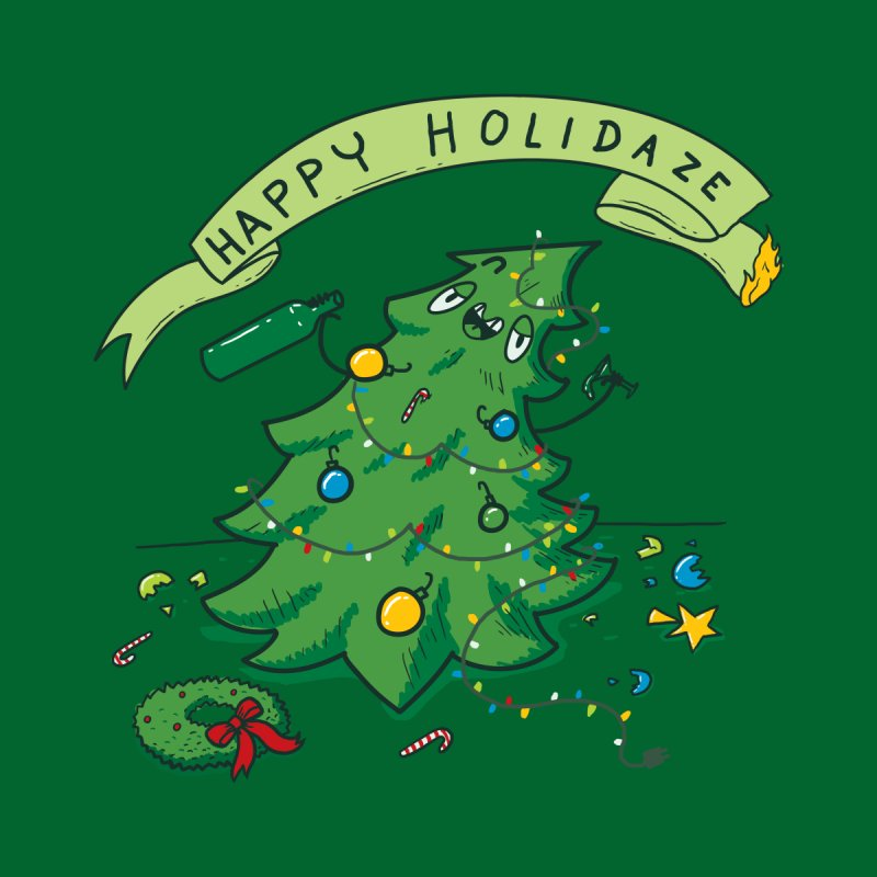Happy Holidaze Men's T-Shirt by Threadless Artist Shop