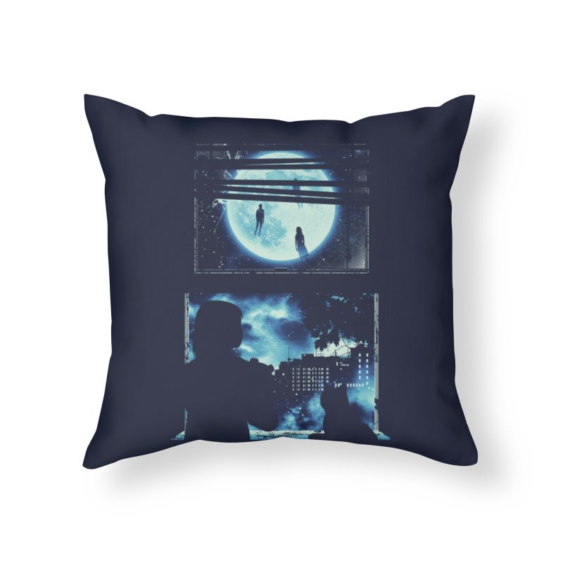 Everyone's Gone to the Moon Home Throw Pillow by Threadless Artist Shop