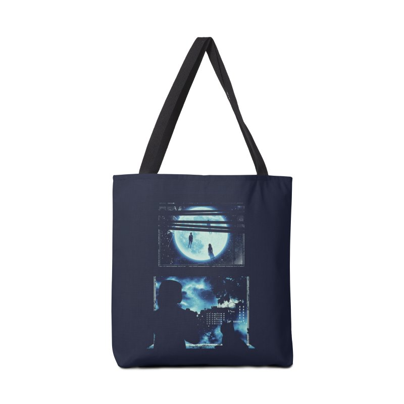 Everyone's Gone to the Moon Accessories Bag by Threadless Artist Shop