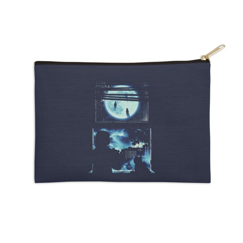 Everyone's Gone to the Moon Accessories Zip Pouch by Threadless Artist Shop