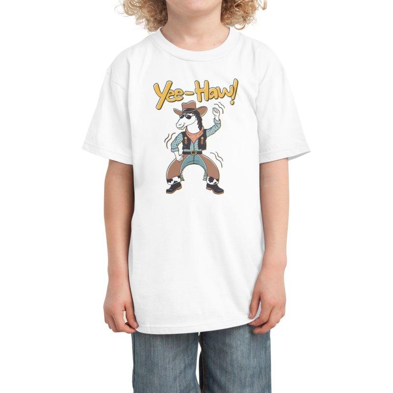 Horsing Around Kids T-Shirt by Threadless Artist Shop