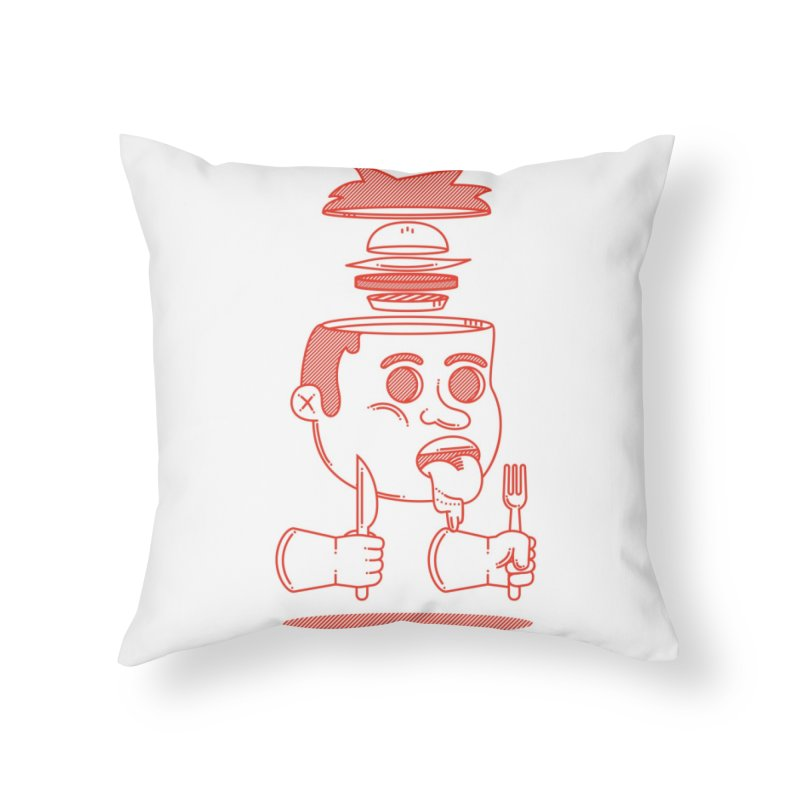 Hungry Home Throw Pillow by Threadless Artist Shop