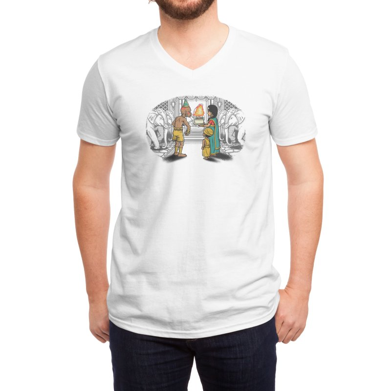 I Can't Blow Out the Candles Men's V-Neck by Threadless Artist Shop