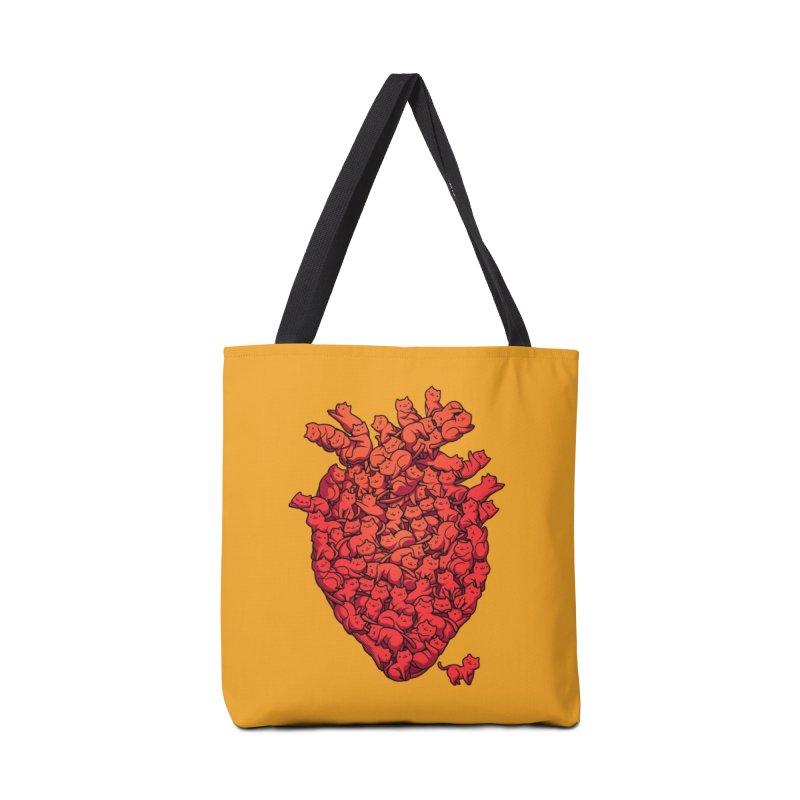 I Love Cat Heart Accessories Bag by Threadless Artist Shop