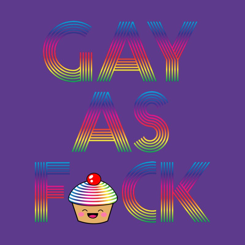 Gay as F*ck Men's V-Neck by Threadless Artist Shop