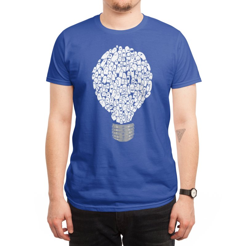 Ghost Bulb Men's T-Shirt by Threadless Artist Shop