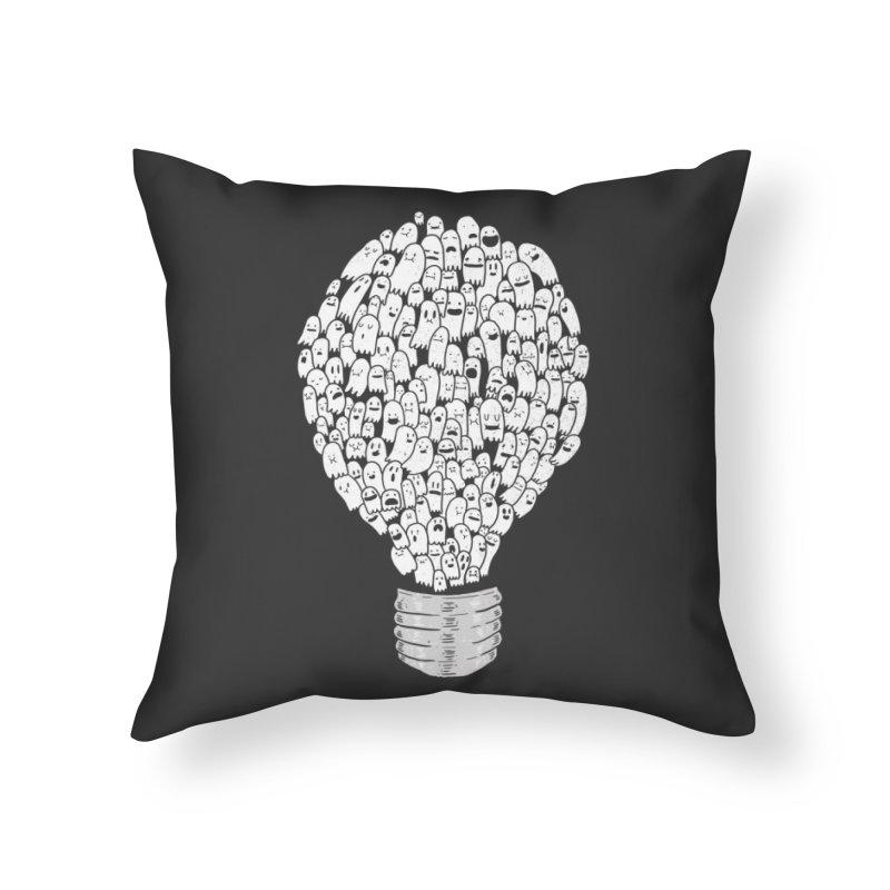 Ghost Bulb Home Throw Pillow by Threadless Artist Shop