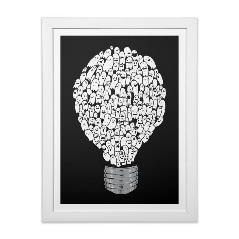 Ghost Bulb Home Framed Fine Art Print by Threadless Artist Shop