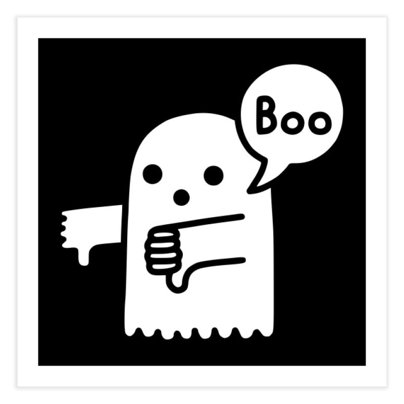 Ghost Of Disapproval Home Fine Art Print by Threadless Artist Shop