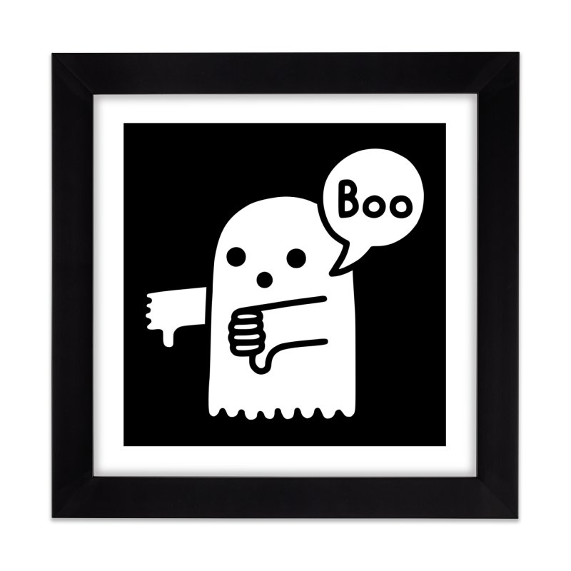 Ghost Of Disapproval Home Framed Fine Art Print by Threadless Artist Shop