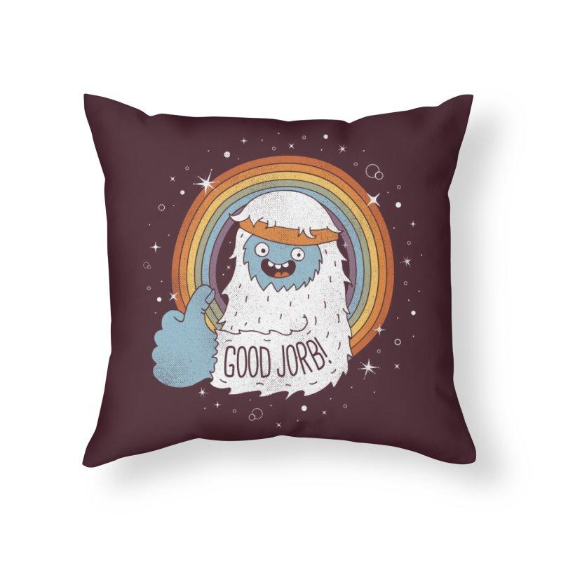 GOOD JORB! Home Throw Pillow by Threadless Artist Shop
