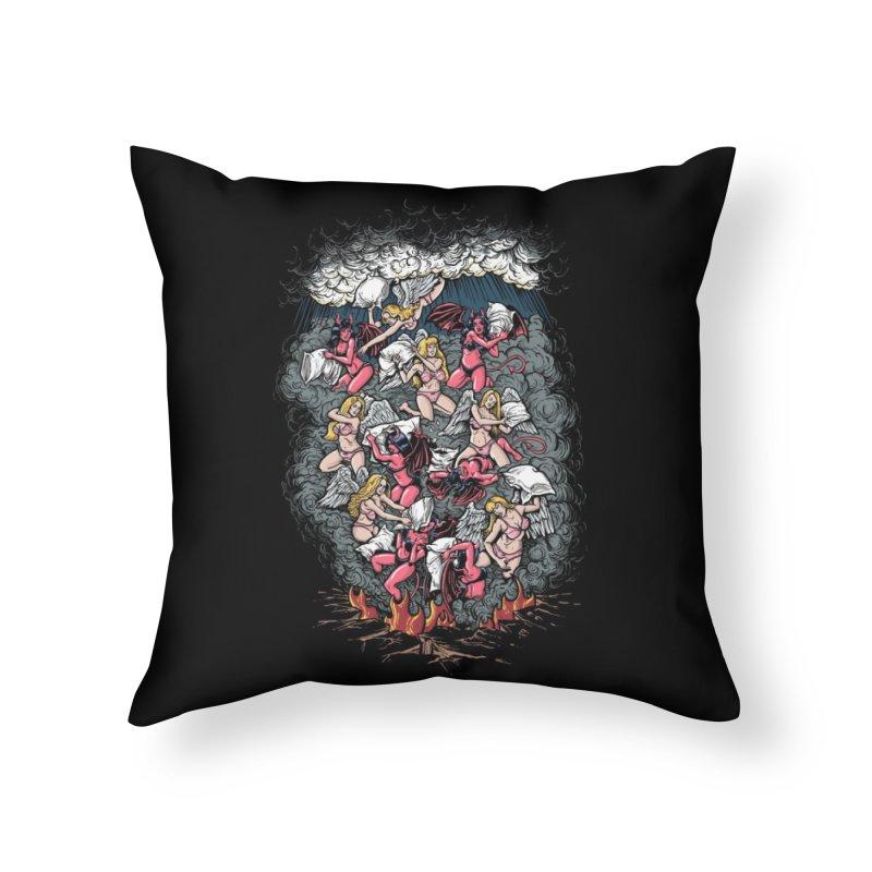 Good vs. Evil Home Throw Pillow by Threadless Artist Shop