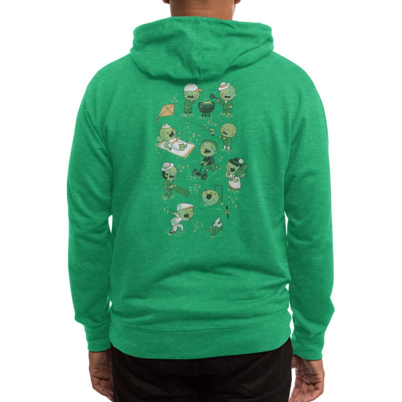 Lawn of the Dead Men's Zip-Up Hoody by Threadless Artist Shop