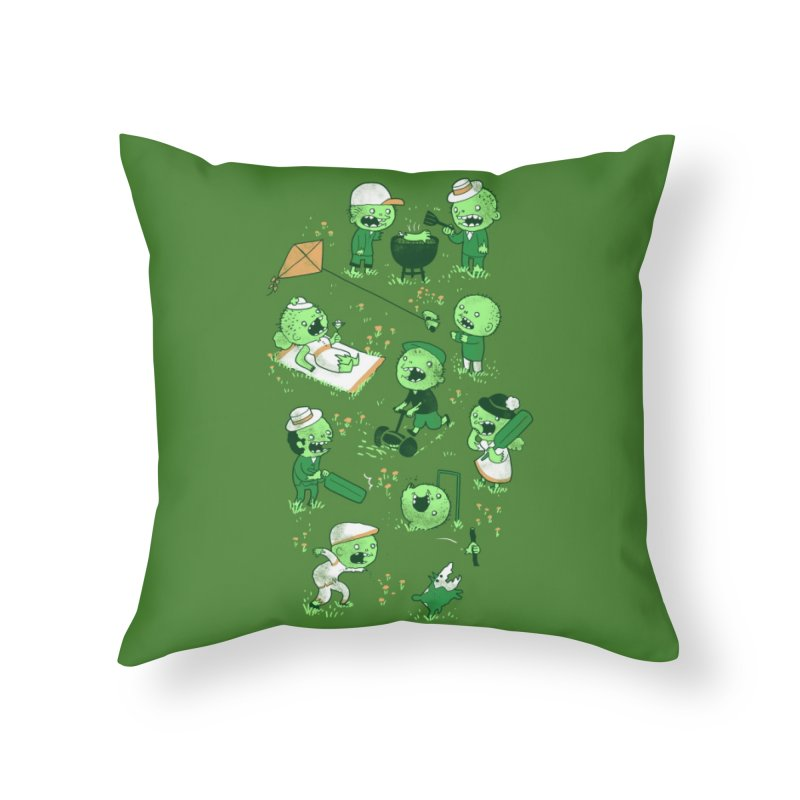 Lawn of the Dead Home Throw Pillow by Threadless Artist Shop