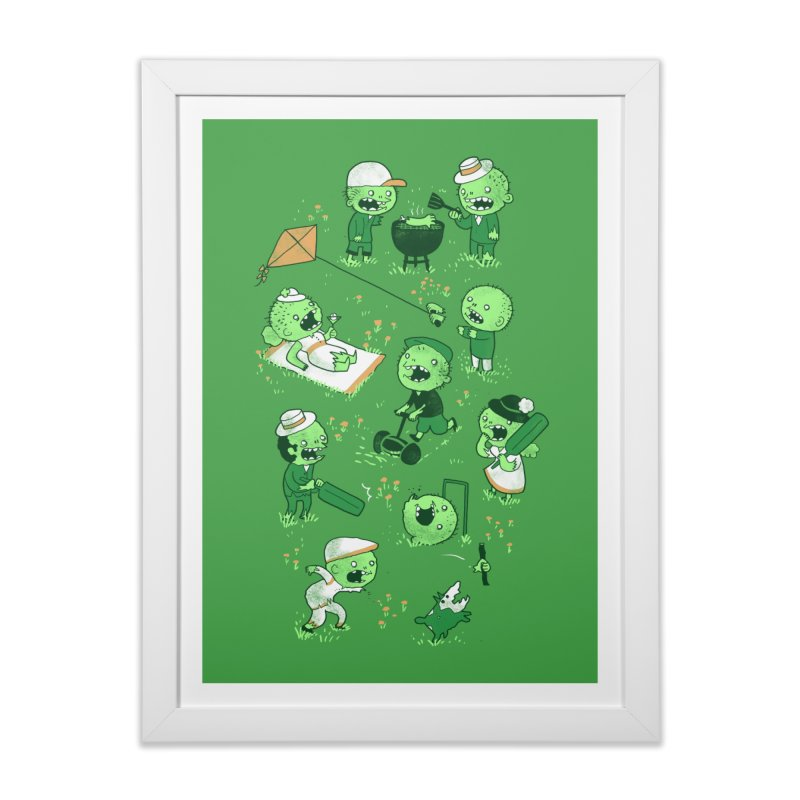 Lawn of the Dead Home Framed Fine Art Print by Threadless Artist Shop