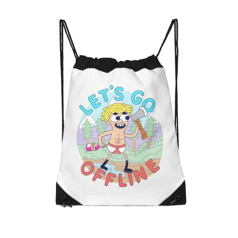 Let's Go Offline Accessories Bag by Threadless Artist Shop