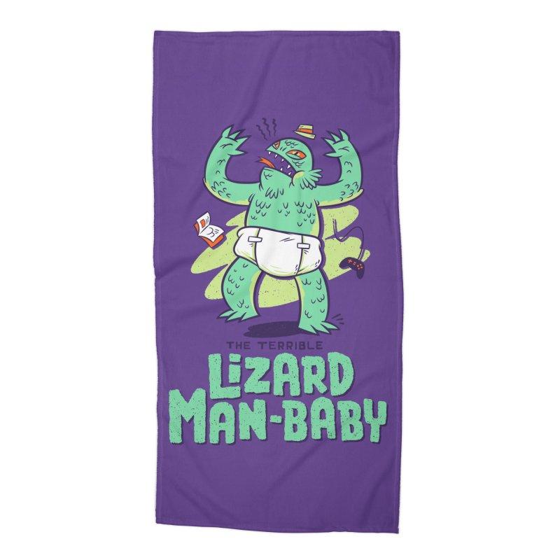 Lizard Man-Baby Accessories Beach Towel by Threadless Artist Shop
