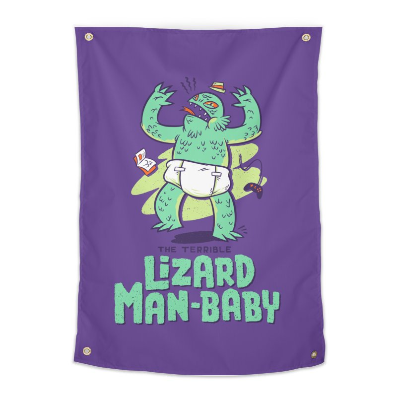 Lizard Man-Baby Home Tapestry by Threadless Artist Shop