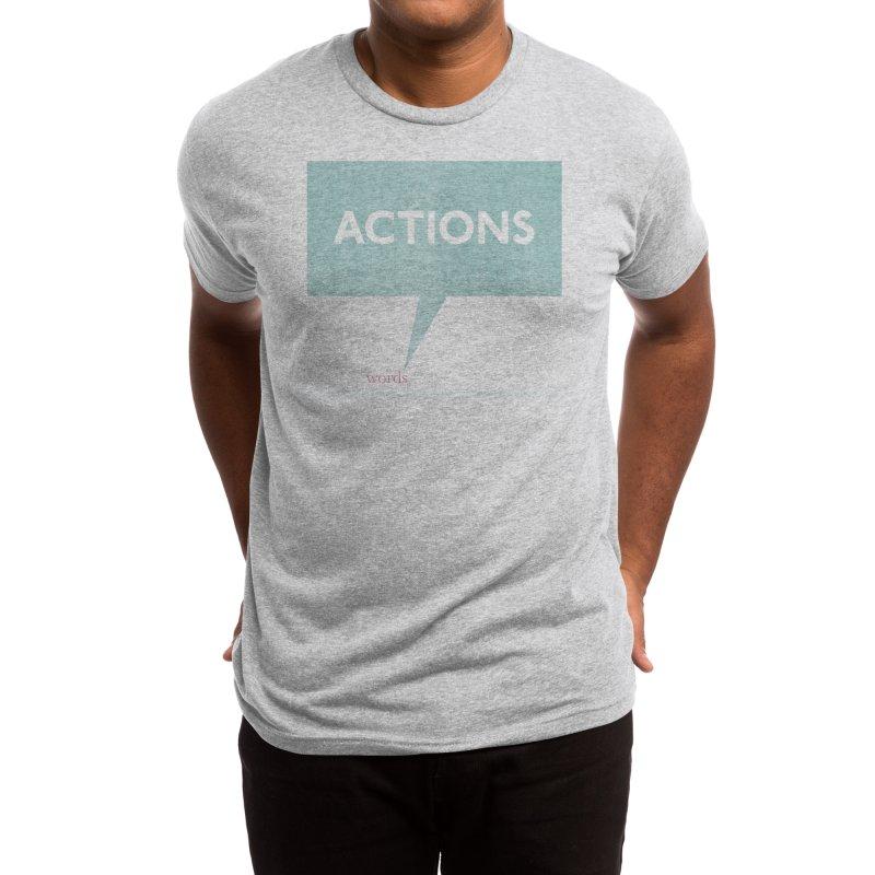 Louder Than Words Men's T-Shirt by Threadless Artist Shop