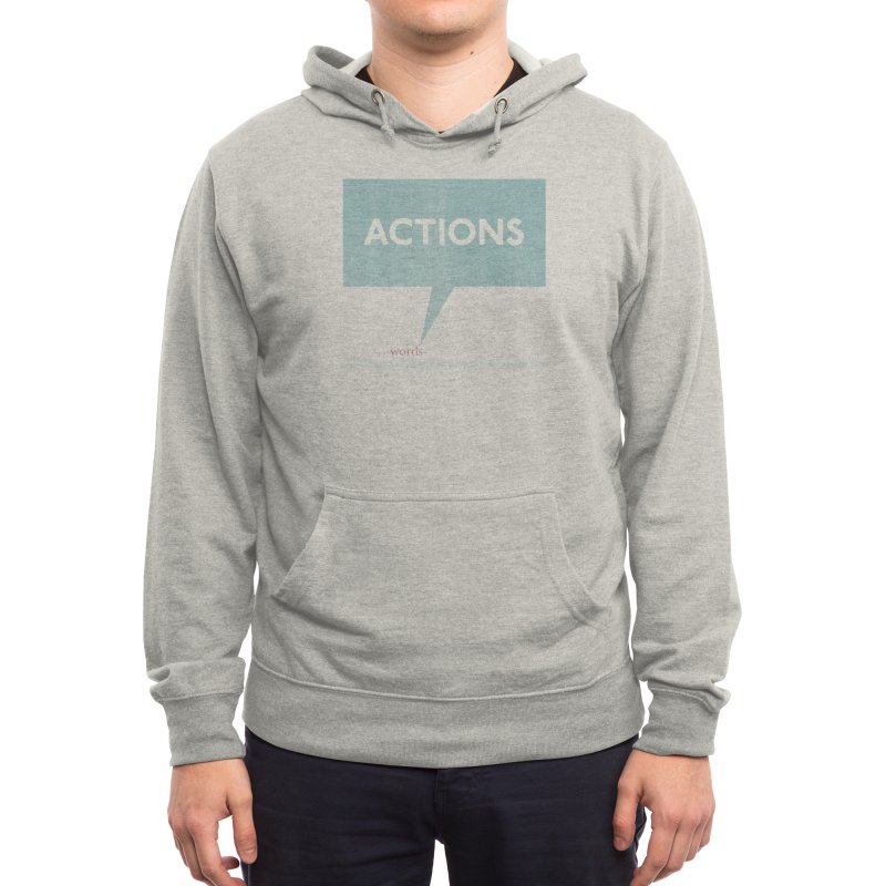 Louder Than Words Men's Pullover Hoody by Threadless Artist Shop