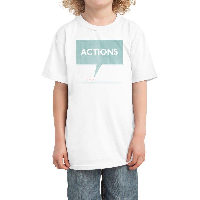 Louder Than Words Kids T-Shirt by Threadless Artist Shop