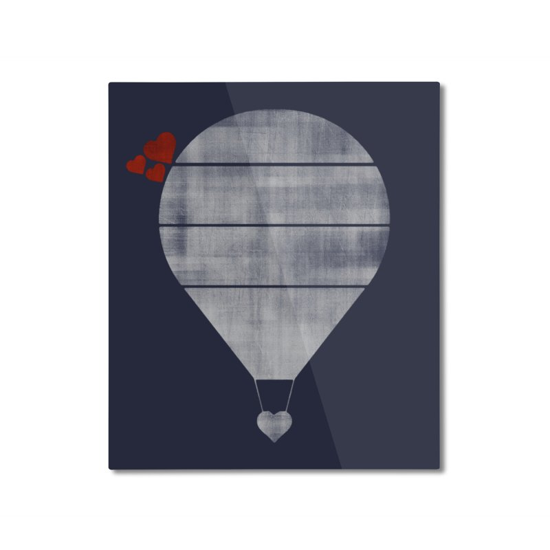 Love Is In the Air Home Mounted Aluminum Print by Threadless Artist Shop