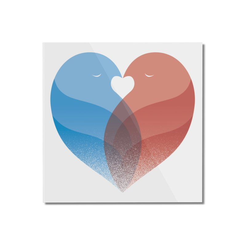 Lovebirds Home Mounted Acrylic Print by Threadless Artist Shop