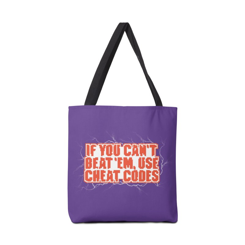 If you can't beat 'em, use cheat codes Accessories Bag by Threadless Artist Shop