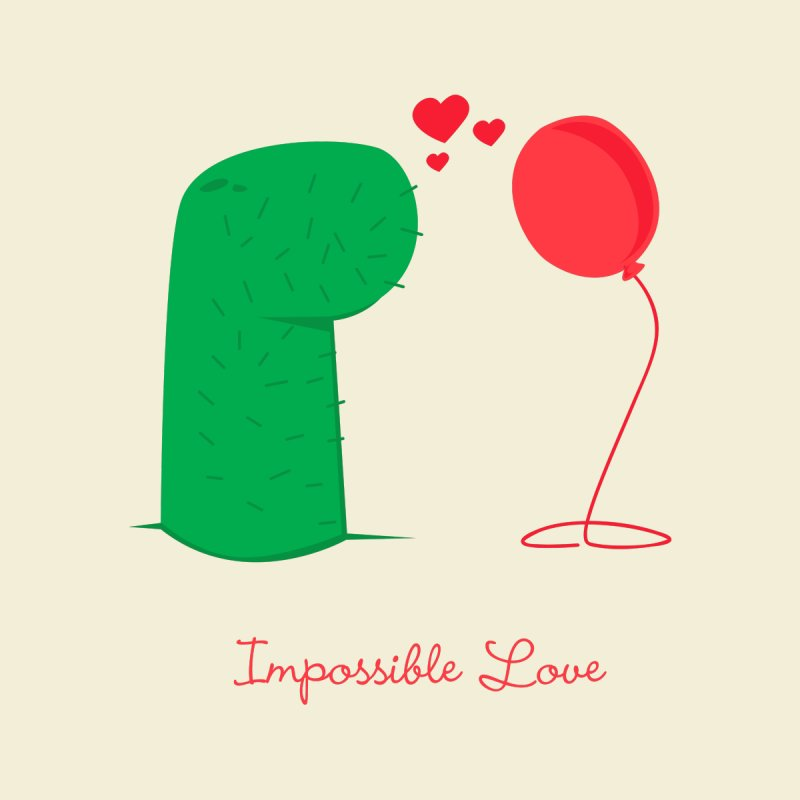 Impossible Love Men's T-Shirt by Threadless Artist Shop
