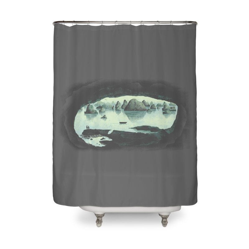 In the Belly of a Beast Home Shower Curtain by Threadless Artist Shop