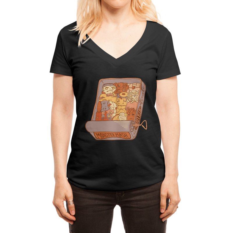 Monster Mash Women's V-Neck by Threadless Artist Shop