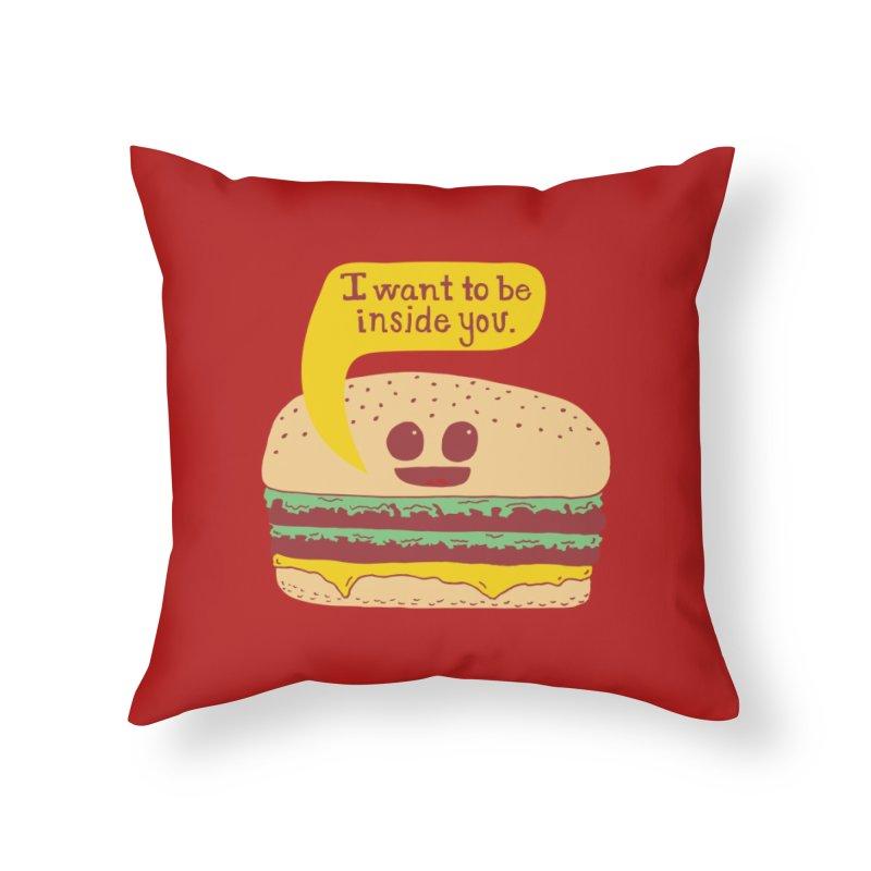 Inside You Home Throw Pillow by Threadless Artist Shop