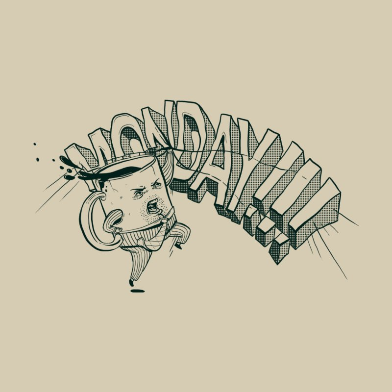Monday!!! Home Throw Pillow by Threadless Artist Shop