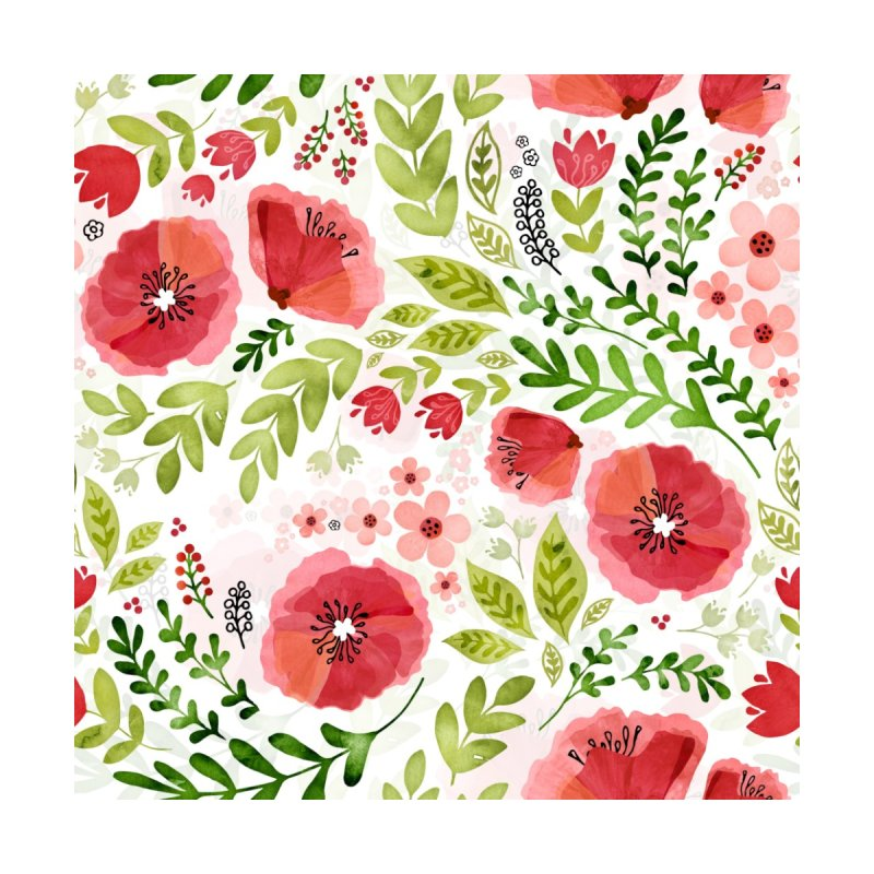 Poppy Flow Home Shower Curtain by Threadless Artist Shop