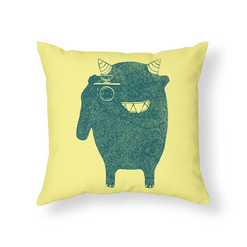 Monster Photographer Home Throw Pillow by Threadless Artist Shop