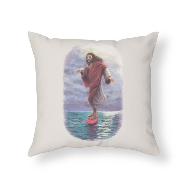 Jesus McFly Home Throw Pillow by Threadless Artist Shop