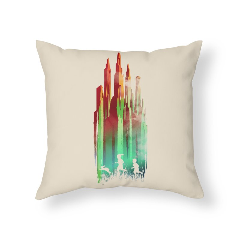 Journey to Emerald City Home Throw Pillow by Threadless Artist Shop