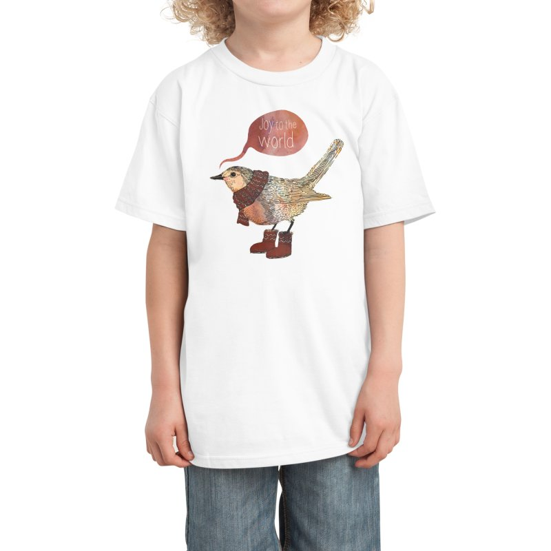 Joy To The World Kids T-Shirt by Threadless Artist Shop